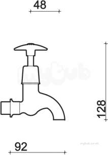 Twyfords Commercial Brassware -  Sola 1/2 Bib Taps Cross Head Pair Sf2302cp