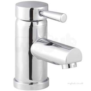 Twyfords Commercial Brassware -  Siron Top Action Lever Optimise Monobloc With Push Button Waste Sn5129cp