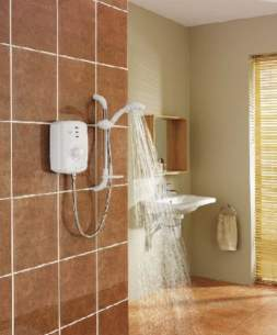 Triton Electric Showers -  Triton T150z Thermo Electric Shower 8.5 Kw White Chrome Plated