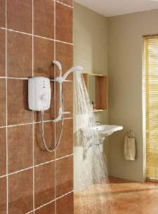 Triton Electric Showers -  Triton T150z Thermostatic 9.5 Kw White Chrome