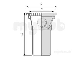 Hepworth Plastidrain -  Hepworth Building 110mm Square Hopper 4h10a