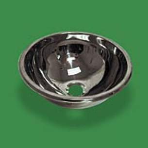 Pland Catering Sinks and Stands -  Pland Lux Inset Hemispherical Bowl 360 Dia Ss