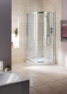 Showerlux Glide Enclosures -  Showerlux Glide Single Round 1000 X 1000