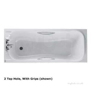Twyfords Acrylic Baths -  Signature Bath 1700x700 2 Tap Inc Grips Se8522wh