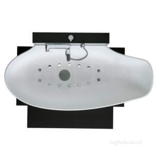 Ideal Standard Acrylic Baths -  Ideal Standard Soft 1800 X 800mm Airspa Base And Bware Wh