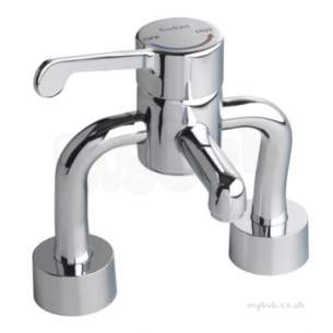 Twyfords Commercial Brassware -  Sola Deck Mounted Thermostatic Surgeons Mixer Tmv3 Sf1057cp