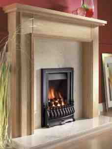 Flavel Gas Fires -  Flavel Stirling Sc Gas Fire Ng Black