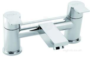 Pegler Luxury Bathroom Brassware -  Storm 4g3035 Cp Pillar Bath Filler