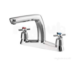 Swan Brassware -  New Swan Two Tap Holes Xt Kitchen Mixer Cp