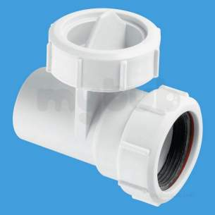 Mcalpine Waste traps overflow -  1.5 Inch In-line Connector Plus Filter T28m-fil