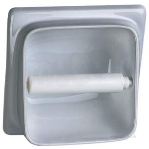 Semi recessed toilet roll holder vc9806wh twyford - Recessed toilet roll holder ceramic ...
