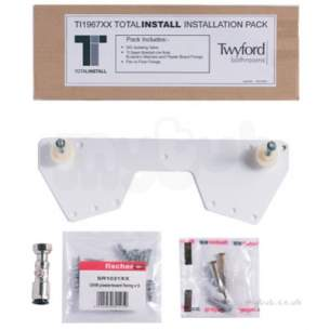 Twyford Mid Market Ware -  Total Install Fixing Kit-optional Upgrade Pack Ti1967xx