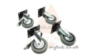 Falcon Catering -  Falcon 534100125 4x Castors Post 8-5-91