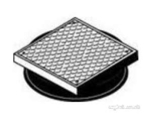 Polypipe Underground Drainage -  Square Pp Cover And Frame Black A Plus