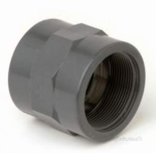 Durapipe Pvc Fittings 1 14 and Above -  Dp Upvc Socket Pl/bsp 101106 1.1/2