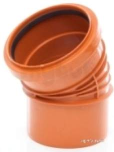 Polypipe Underground Drainage -  160mm X 30d P/rib Single Socket Bend Ur668