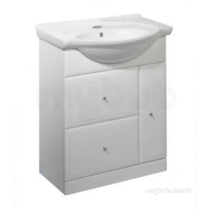 Roper Rhodes Furniture -  Valencia 700mm White Base Unit With Soft