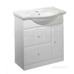 Roper Rhodes Furniture -  Valencia 800mm White Base Unit With Soft