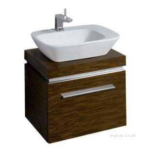 Twyford Moda Sanitaryware -  Vello 600 Vanity Unit Wenge Vo0131we