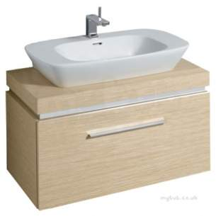 Twyford Moda Sanitaryware -  Vello 1000 Vanity Unit Light Oak Vo0331ok