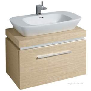 Twyford Moda Sanitaryware -  Vello 800 Vanity Unit Light Oak Vo0231ok