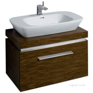 Twyford Moda Sanitaryware -  Vello 800 Vanity Unit Wenge Vo0231we