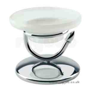 Bristan Accessories -  Arctic Free Standing Dish And Holder Cp