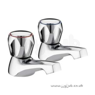 Bristan Brassware -  Club Basin Taps-acr Heads Pair Cp