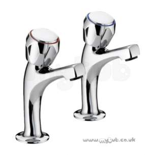 Bristan Brassware -  Club High Neck Pillar Taps Exc Heads Cp