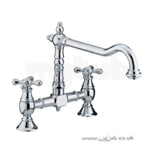 Bristan Brassware -  Colonial 2th Bridge Sink Mixer B/nickel