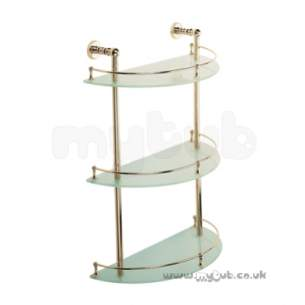 Bristan Accessories -  Bristan 1901 3 Tier Shelf Gp N 3tshelf G