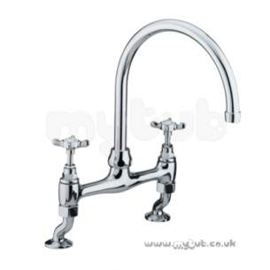 Bristan Brassware -  1901 2th Bridge Deck Sink Mixer Cp