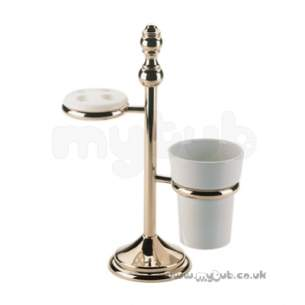 Bristan Accessories -  1901 F/s Toothbrush And Tumbler Holder Cp