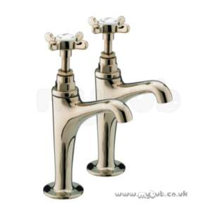 Bristan Accessories -  1901 High Neck Pillar Taps Pair Cp