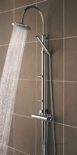 Bristan Showering -  Prism Shower Pole And Integral Diverter