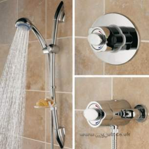 Bristan Showering -  Quest Universal Shower And Adj Riser Cp