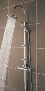 Bristan Showering -  Quadrant Shower Pole/integ Valve And Diverter
