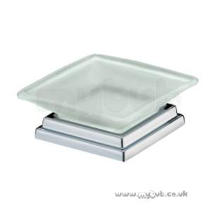 Bristan Accessories -  Qube Free Standing Soap Dish Chrome Plated Qu Fsdish C