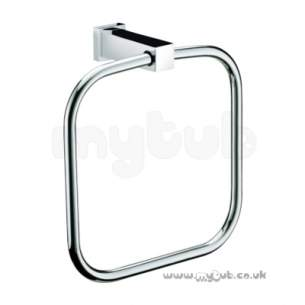 Bristan Accessories -  Bristan Qube Towel Ring Chrome Plated Qu Ring C