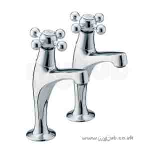 Bristan Brassware -  Regency High Neck Pillar Taps Cp