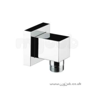 Bristan Brassware -  Conc Square Outlet Hose Connector Cp