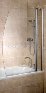 Bristan Showering -  Bristan 2 Panel Bath Screen Lh 1140 X 1500mm