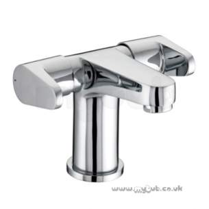 Bristan Brassware -  Quest 2 Handle Basin Mixer With Clicker