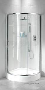 Bristan Showering -  Java Jq25 950mm 2 Part Sliding Quadrant