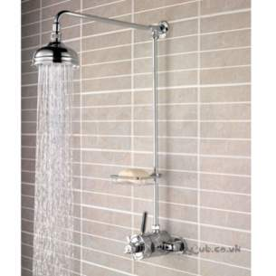 Bristan Showering -  Art Deco Dcshxrrc Therm M/d Rigid Ris Cp
