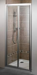 Bristan Showering -  Jute Jub 760mm Bi-fold Door White