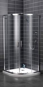Bristan Showering -  Java Jq45 900mm 4 Part Sliding Quadrant