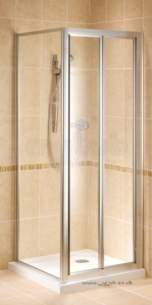 Bristan Showering -  Jute Jubcp 760mm Bi-fold Dr And S/pnl Silv