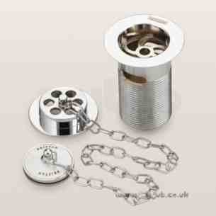 Bristan Brassware -  Trad Bath Waste And O/flow Porc Plug Gp