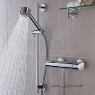 Bristan Showering -  Aqueous Thermo Surf/mounted Bar Shower Aq Shxsmff C
